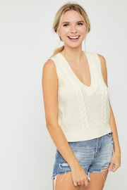hers and mine Cable Sweater Vest - Back cropped