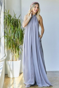 hers and mine Chiffon Halter Wide Leg Jumpsuit - Product List Image