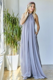 hers and mine Chiffon Halter Wide Leg Jumpsuit - Product Mini Image