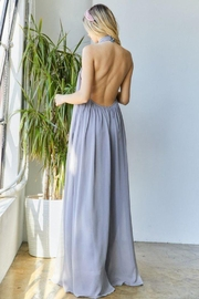 hers and mine Chiffon Halter Wide Leg Jumpsuit - Front full body