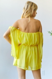 hers and mine Chiffon Slit Sleeves Romper - Other