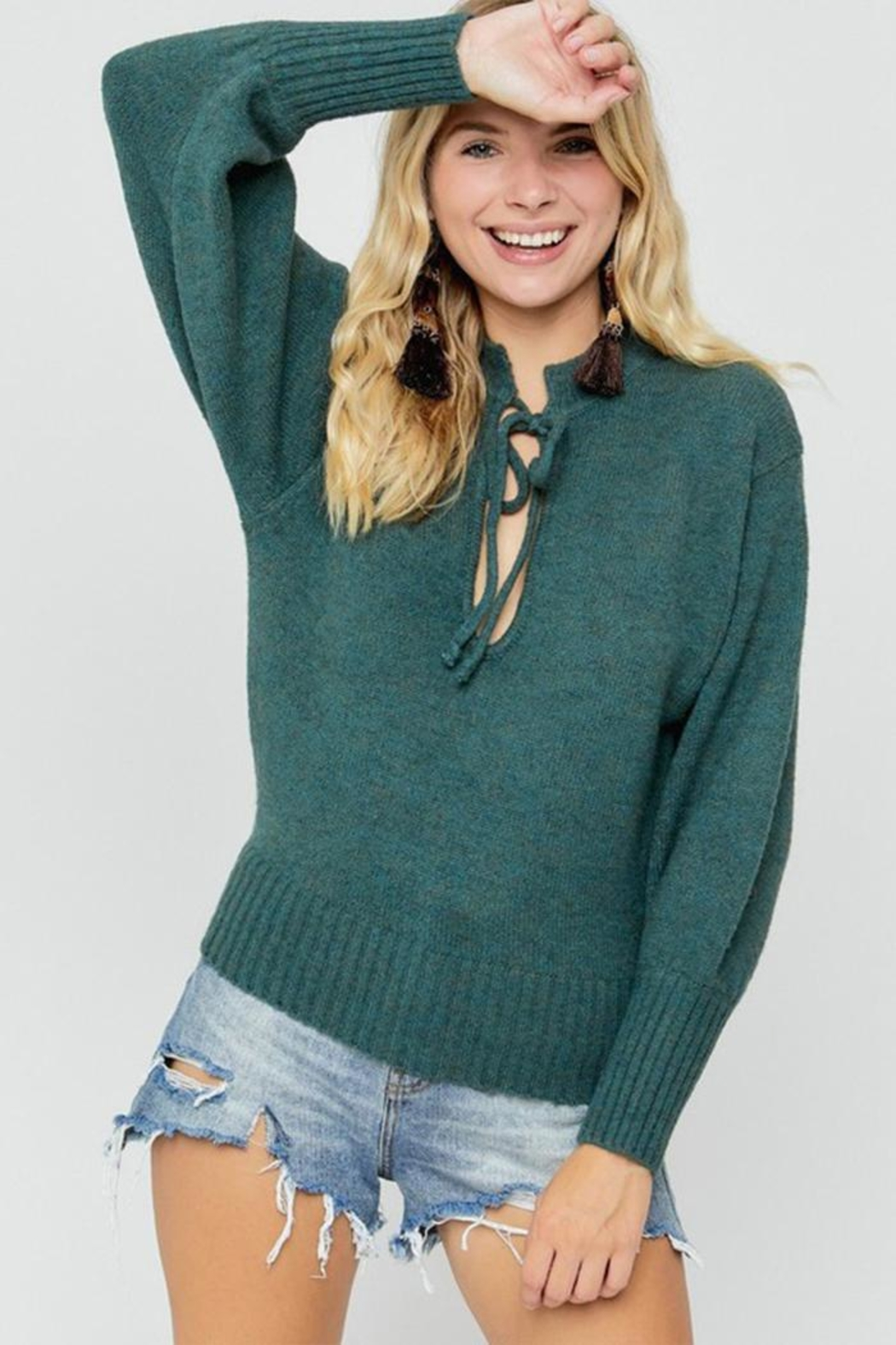 hers and mine Deep V-Neck Sweater - Main Image