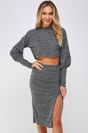 hers and mine Grey Skirt Set - Front cropped