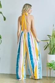 hers and mine Halter Neck Tie Back Jumpsuit - Side cropped