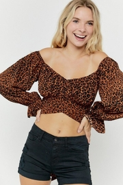 hers and mine Long-Sleeve Leopard Top - Product Mini Image