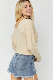 hers and mine Overlap Cropped Sweater - Side cropped