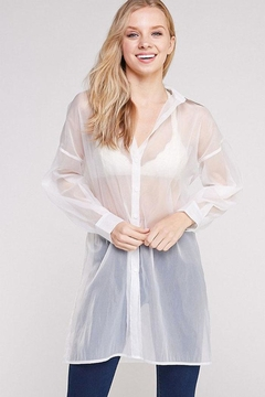 hers and mine Oversized Organza Shirt - Product List Image