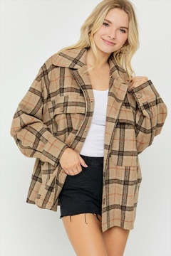 Shoptiques Product: Plaid Button Down Jacket