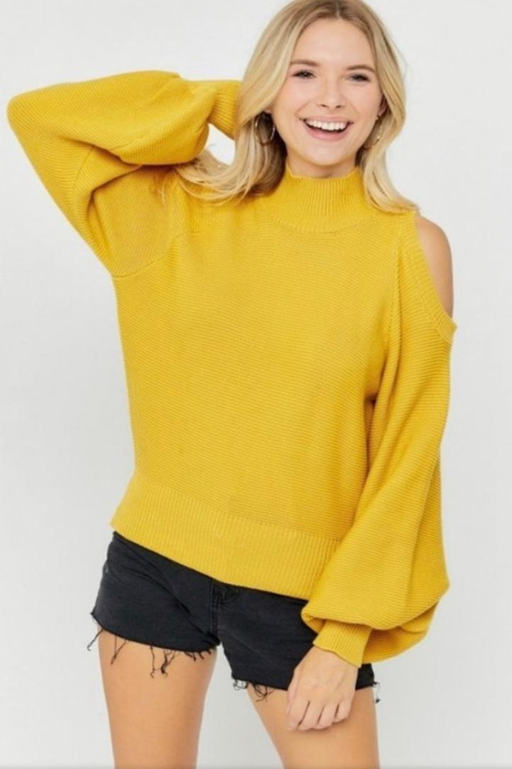 hers and mine Puff Sleeve Sweater - Main Image
