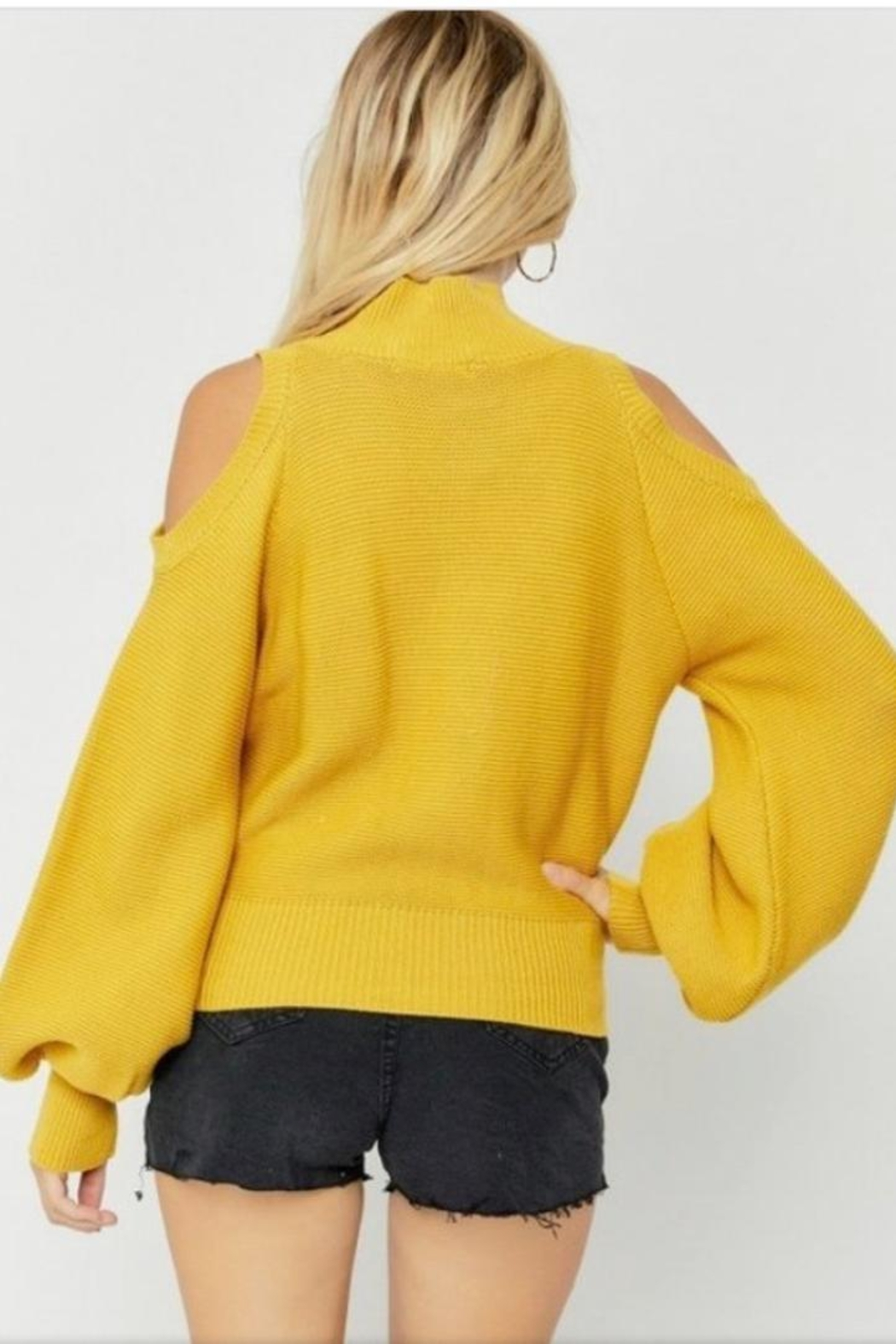 hers and mine Puff Sleeve Sweater - Side Cropped Image