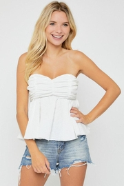 hers and mine Strapless Peplum Top - Product Mini Image