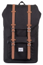 Herschel Supply Co. Black Little America Backpack - Front cropped