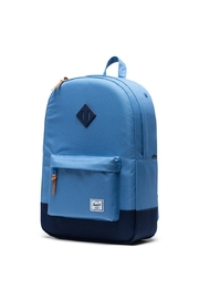 Herschel Supply Co. Blue Heritage Backpack - Front full body