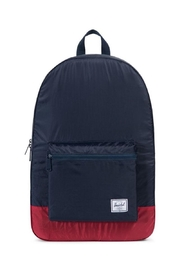 Herschel Supply Co. Navy/red Packable Daypack - Front cropped