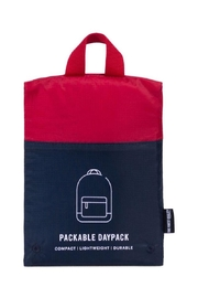 Herschel Supply Co. Navy/red Packable Daypack - Back cropped