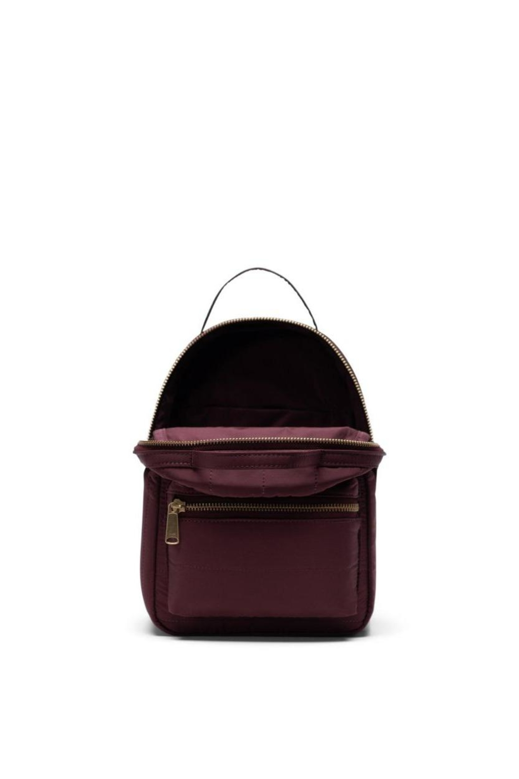 Herschel Supply Co. Plum Quilted Backpack - Front Full Image
