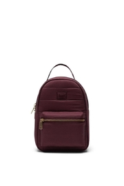 Herschel Supply Co. Plum Quilted Backpack - Front cropped