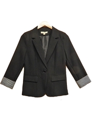 Hesperus Black Stripe-Cuff Jacket - Product Mini Image
