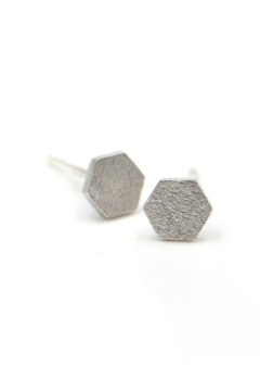 Adorn512 Hex stud earrings - Alternate List Image