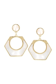 Lets Accessorize Hexagon Acetate Hoops - Product Mini Image