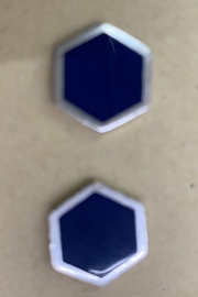 C+I Hexagon Cufflinks - Front cropped