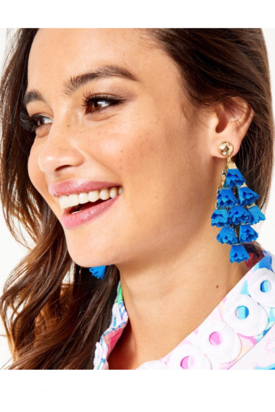 Lilly Pulitzer  Hey Bouquet Earrings - Front Cropped Image