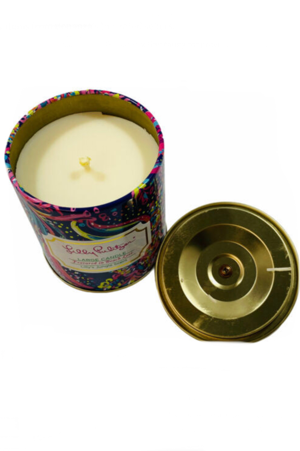 Lilly Pulitzer  Hey Hot Stuff Large Candle - Front Full Image