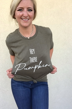 kissed Apparel Hey There Pumpkin graphic tee - Alternate List Image