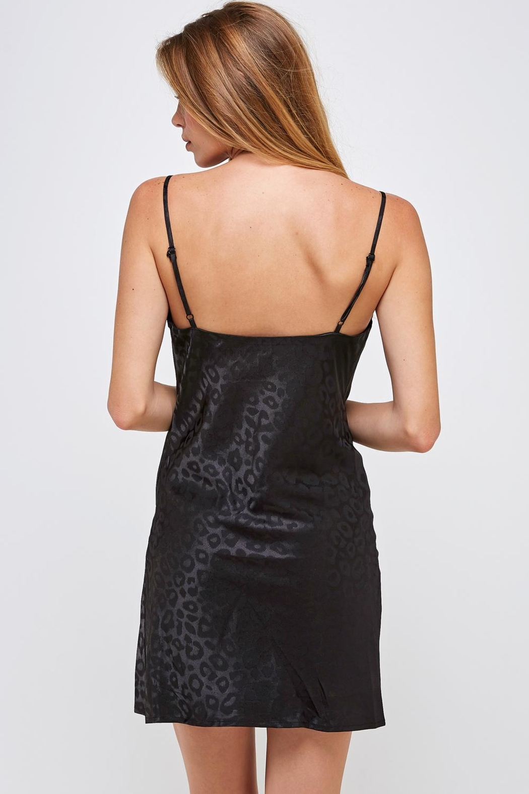 Hey Babe Leopard Mini Dress - Back Cropped Image