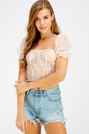 Hey Babe Organza Sleeve Top - Product Mini Image