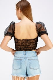 Hey Babe Organza Sleeve Top - Back cropped
