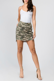 Bianco Jeans Hi Lo Camo Skirt - Product Mini Image