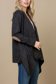 Lyn-Maree's  Hi-lo Cardigan with Elbow Patch - Product Mini Image