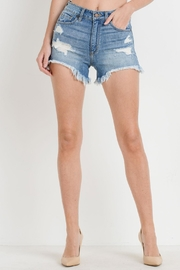 JBD Hi-Lo Frayed Shorts - Product Mini Image