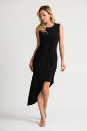 Joseph Ribkoff Hi Lo Knot Front Dress - Product Mini Image