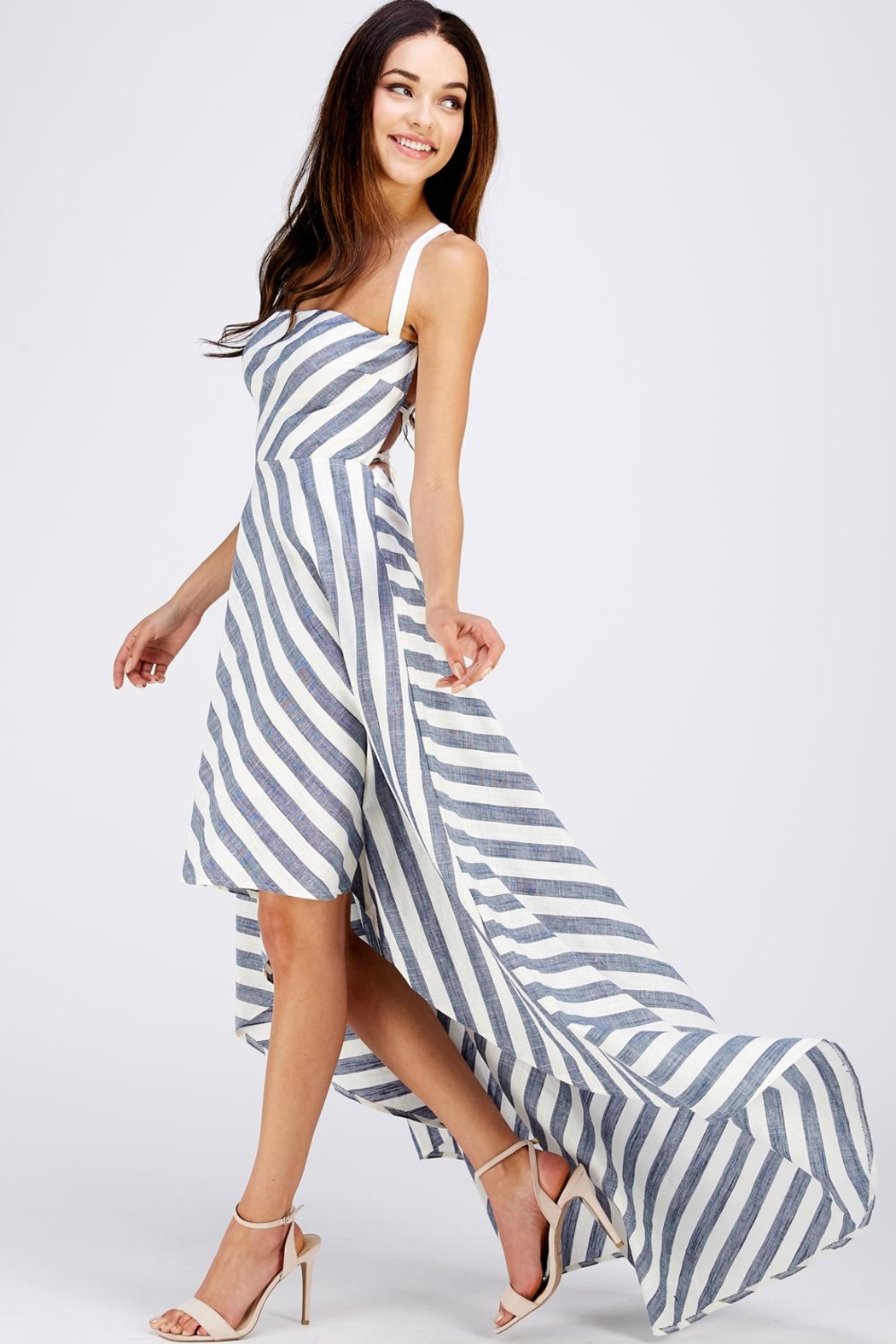 Blithe  Hi-Lo Strappy Dress - Front Full Image