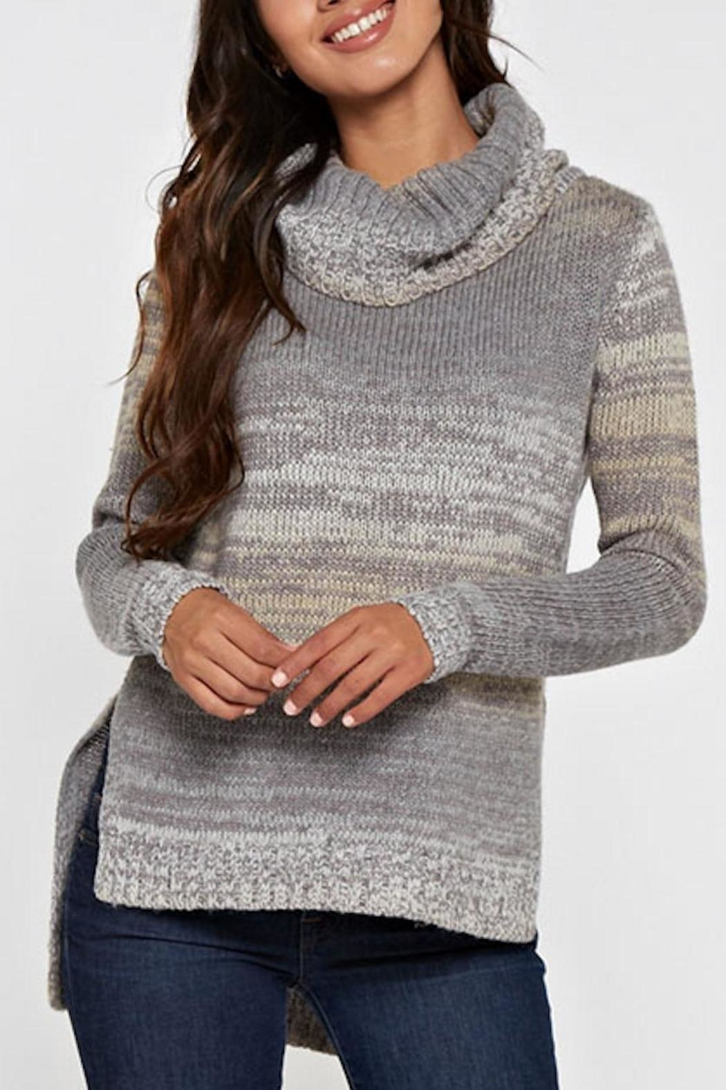 Lovestitch Hi-Lo Turtleneck Sweater - Main Image