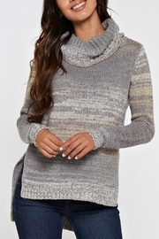 Lovestitch Hi-Lo Turtleneck Sweater - Front cropped