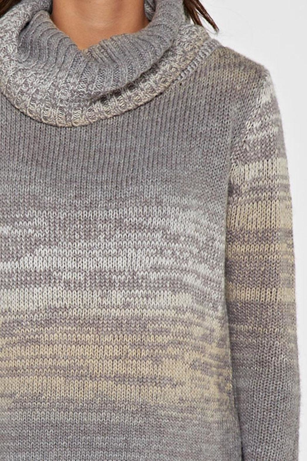 Lovestitch Hi-Lo Turtleneck Sweater - Side Cropped Image