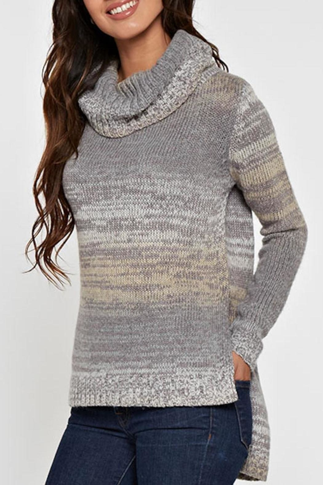 Lovestitch Hi-Lo Turtleneck Sweater - Front Full Image