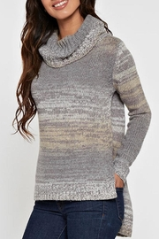Lovestitch Hi-Lo Turtleneck Sweater - Front full body