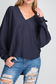 Glam Hi-Lo V-Neck Top - Front cropped