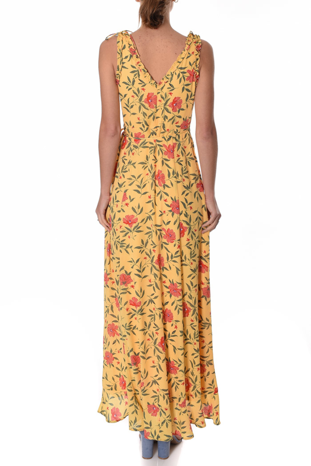 If By Sea Hi-Lo Wrap Dress - Front Full Image