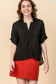 HYFVE Hi Low Button Back Blouse - Product Mini Image