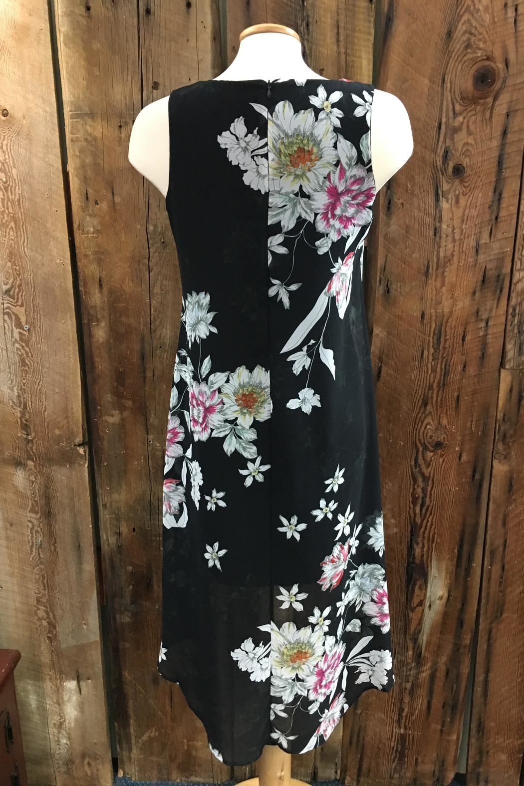 Point Zero Hi-Low Floral Dress - Front Full Image