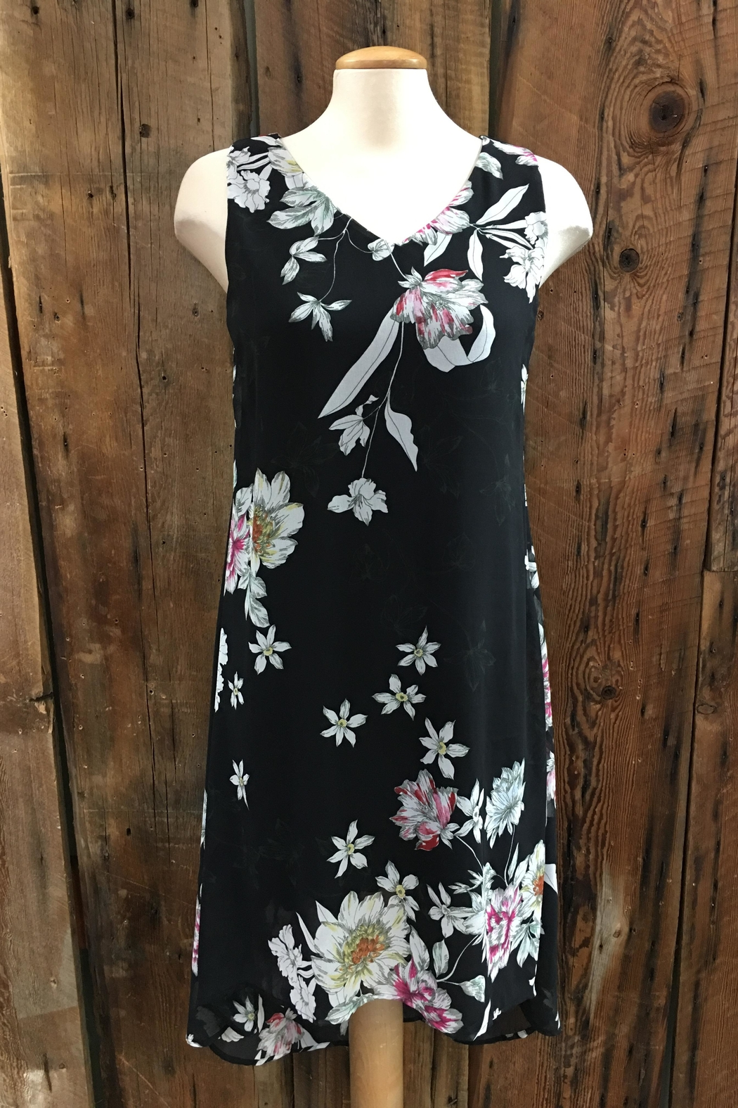 Point Zero Hi-Low Floral Dress - Main Image