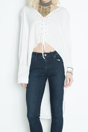 Libby Story Hi-Low Laced Top - Product Mini Image