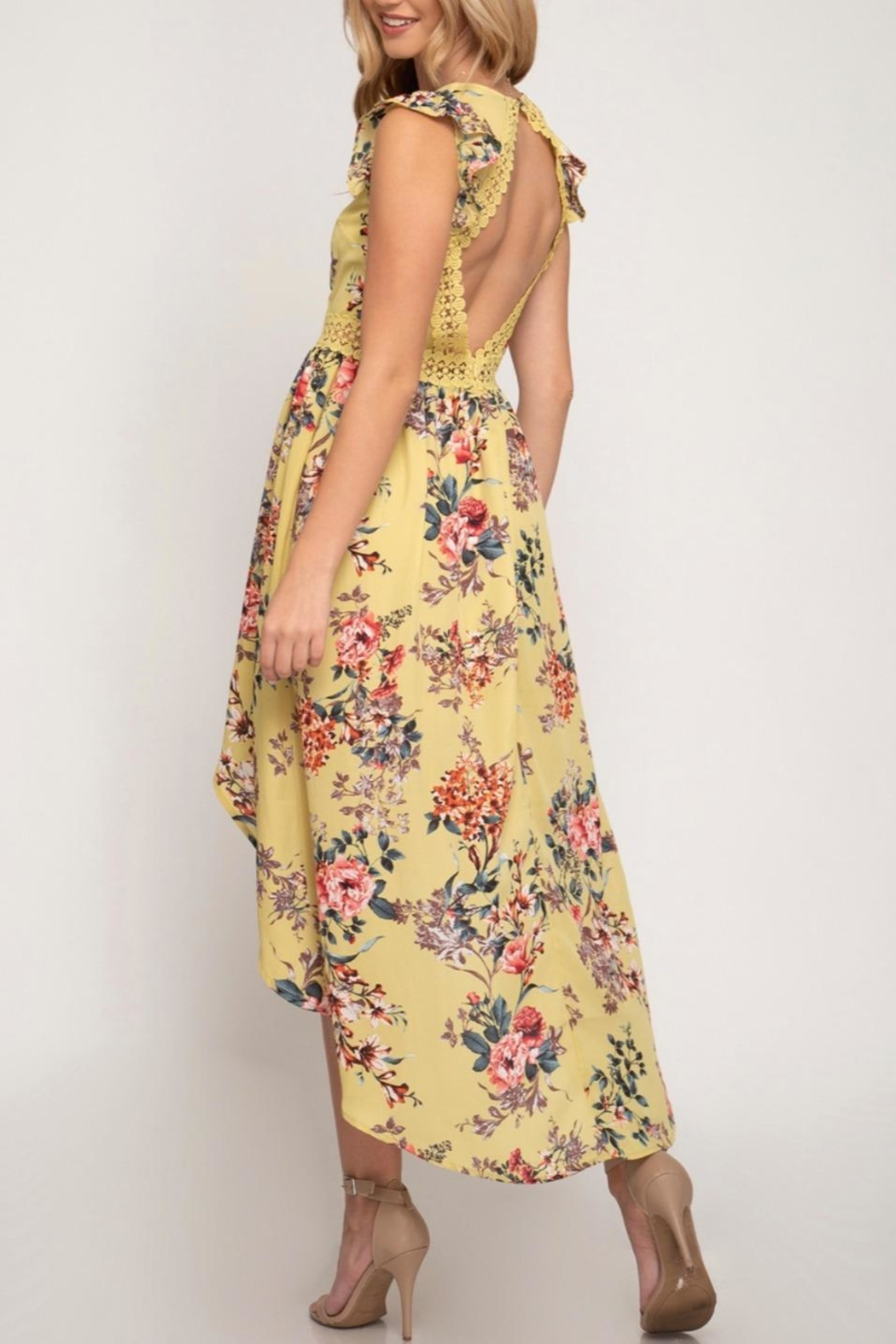 She + Sky Hi Low Maxi - Front Full Image