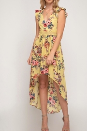 She + Sky Hi Low Maxi - Front cropped