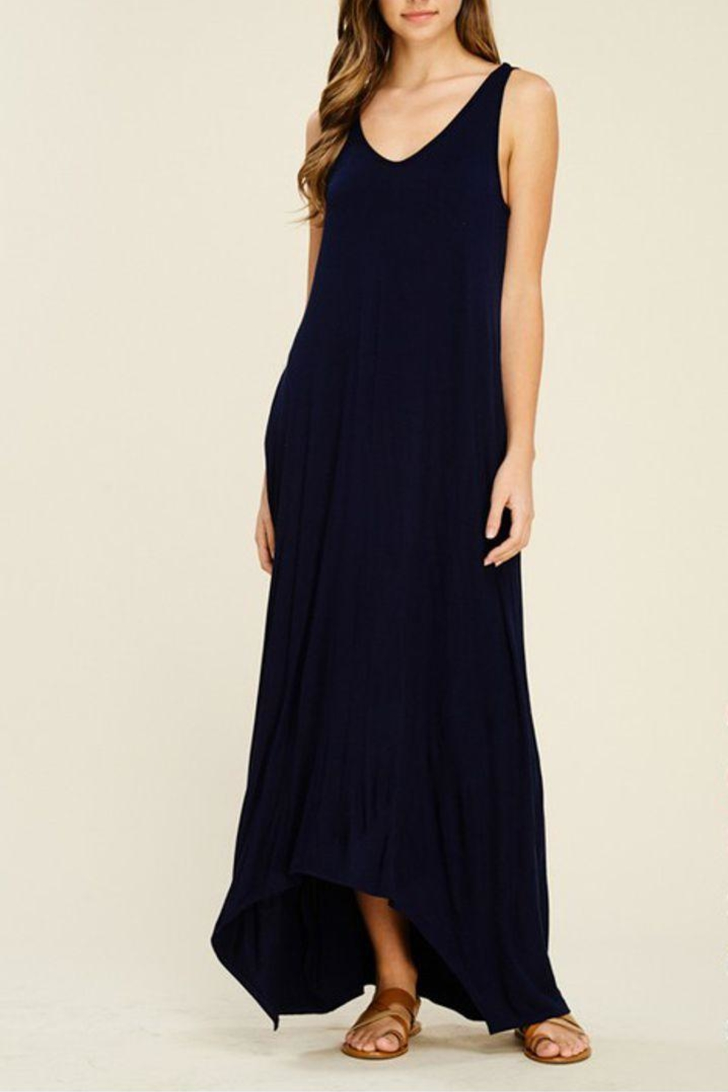 The Dressing Room Hi-Low Maxi Dress - Front Cropped Image